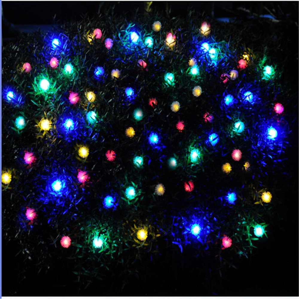 TechCode Solar String Lights, Waterproof Solar Powered LED Fairy Lamps String Lights Fur Snow Ball Lighting for Indoor/Outdoor Patio, Garden, Home, Wedding, Pathway, Party Decorations (Multi-Colour) by TechCode (Image #6)