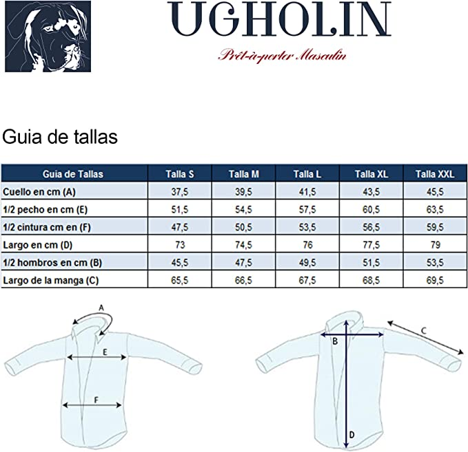 Ugholin Camisa de Lino Hombre Cuello Clásico de Manga Larga ...