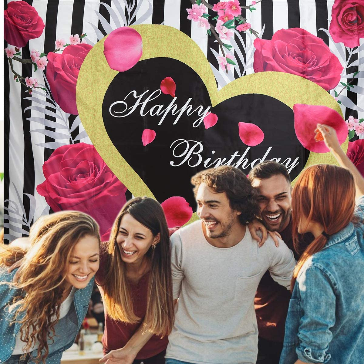 Happy Birthday Owlike 7ftx5ft Festival Party Photo Shooting Props Backdrop Photography Background