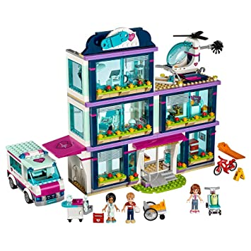 LEGO Friends Heartlake Hospital Building Kit, 871 Piece, Building ...