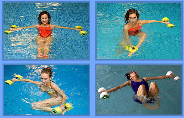 HNJZX Mancuernas hinchables de espuma EVA para ejercicios de agua ...
