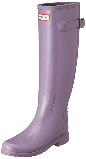 fa233d234ce Hunter Women s Original Refined Gloss Thundercloud Knee-High Rubber Rain  Boot - 5M