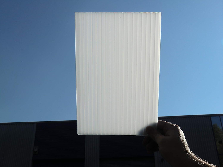 Hojas de Techo de plástico de policarbonato de ópalo Reciclado, 10 mm, para Carro, toldo, Lean, Conservatory Various TAMAÑOS: Amazon.es: Jardín