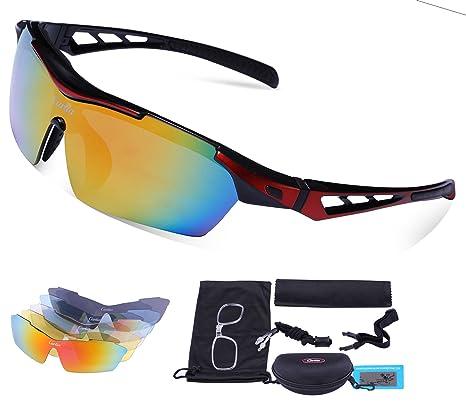 a9393c3db Carfia TR90 UV400 Unisex Gafas de Sol Deportivas Polarizadas 5 Lentes de Cambios  Incluido para Deporte
