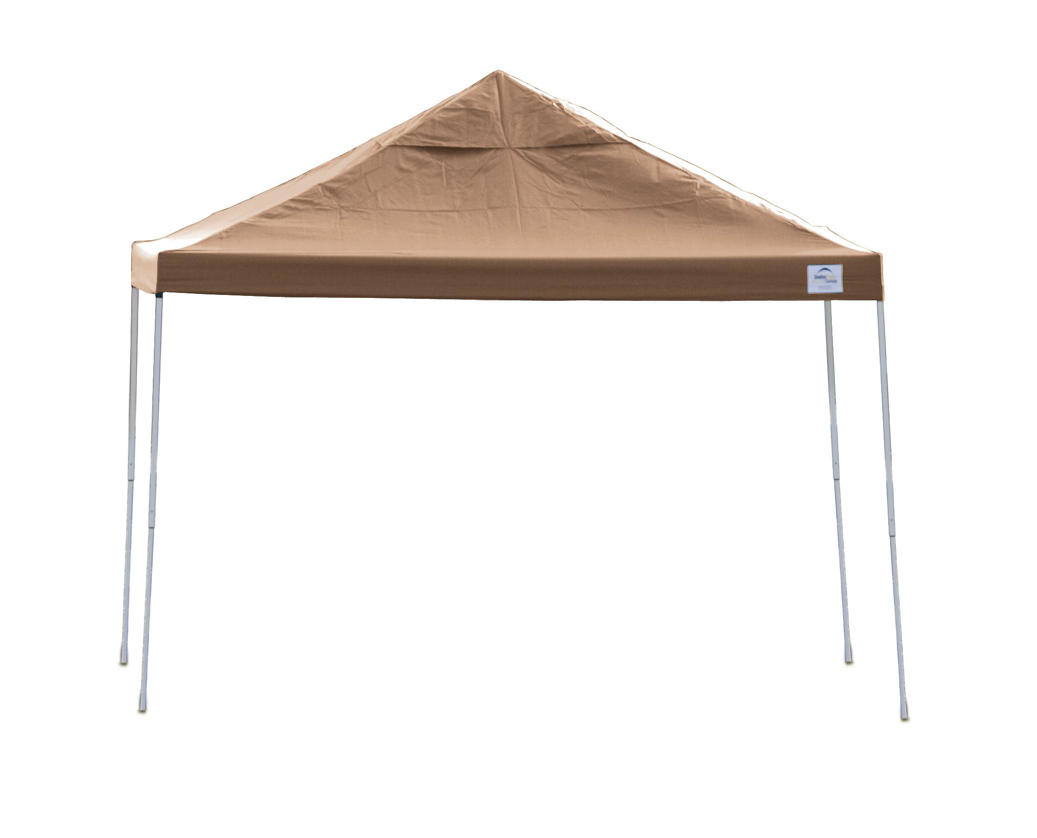 12x12 Straight Leg Pop-up Canopy, Desert Bronze Cover, Black Roller Bag