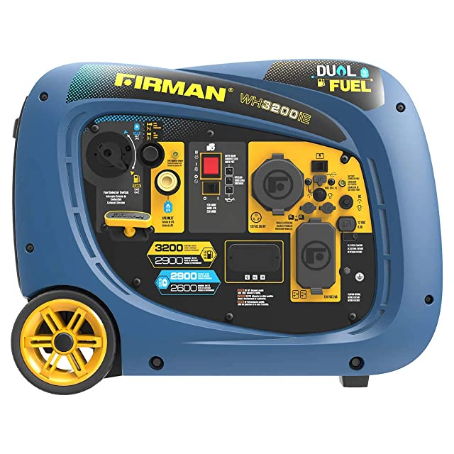 Firman 2900W Running / 3200W Peak Electric Start Dual Fuel Inverter Generator