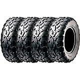 Set of 4 SunF A010 ATV UTV Tires 25x8-12 & 25x10-12, 6 Ply