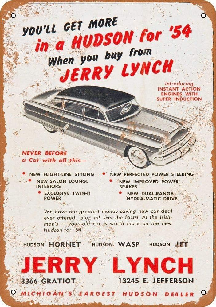 Vintage Look 1954 Hudson Super Wasp Metal Sign