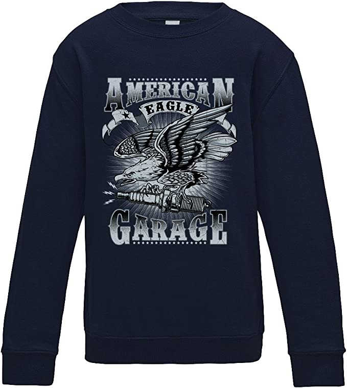 American Eagle Garage Sweater - Navy - Medium: Amazon.es: Ropa y ...