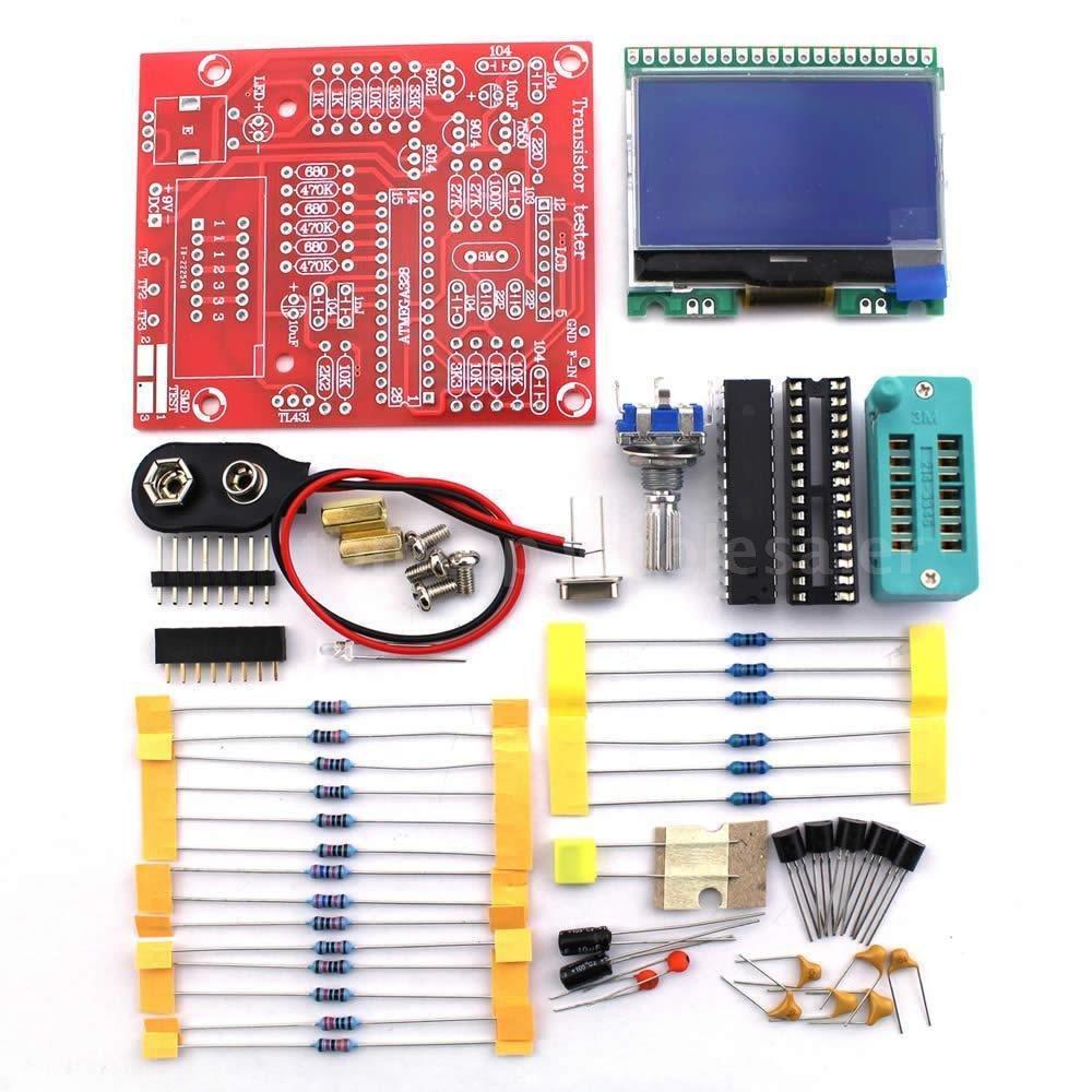 Yosoo M328 Lcd 12864 Transistor Tester Diy Kit Diode Triode For Repair Capacitance Lcr Esr Meter