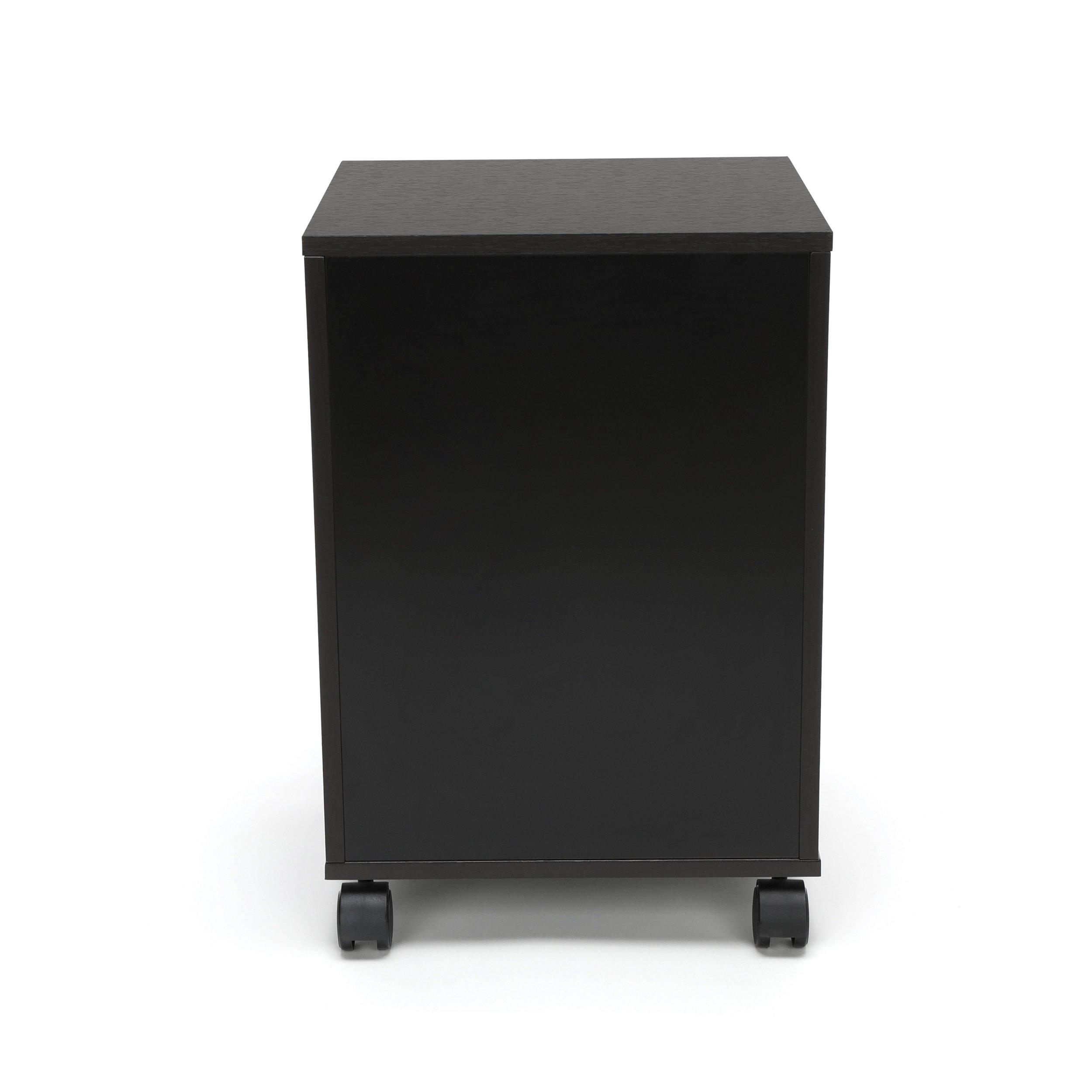 Essentials File Cabinet - 3-Drawer Wheeled Mobile Pedestal Cabinet, Espresso (ESS-1030-ESP) by OFM (Image #5)
