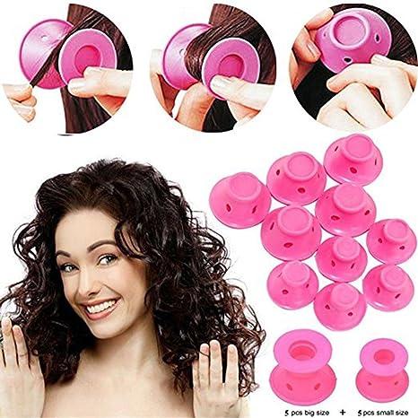 eBasic Silicona sin calor rizador de pelo sin calor Rizador de pelo Magic suaves rodillos Cuidado