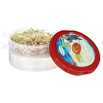 Primeway Junior Sprout Maker Container Organic Home Making Sprouts, Red Jars & Containers at amazon