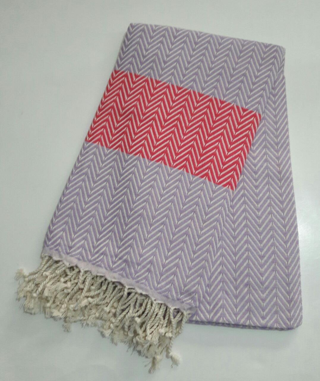 "Paramus Turkish Cotton Bath Beach Hammam Towel Peshtemal Blanket (Purple-Pink, 1) - 100% COTTON Made in Turkey 95x175 cm (""37x70"" inches) - bathroom-linens, bathroom, bath-towels - 71ewGuA7nEL -"