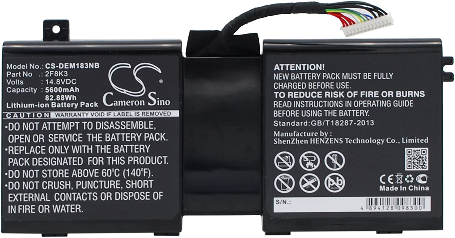 5600mAh Replacement for DELL Alienware 17, Alienware 18, Alienware M17X R5 Battery, P/N 02F8K3, 0G33TT, 0KJ2PX