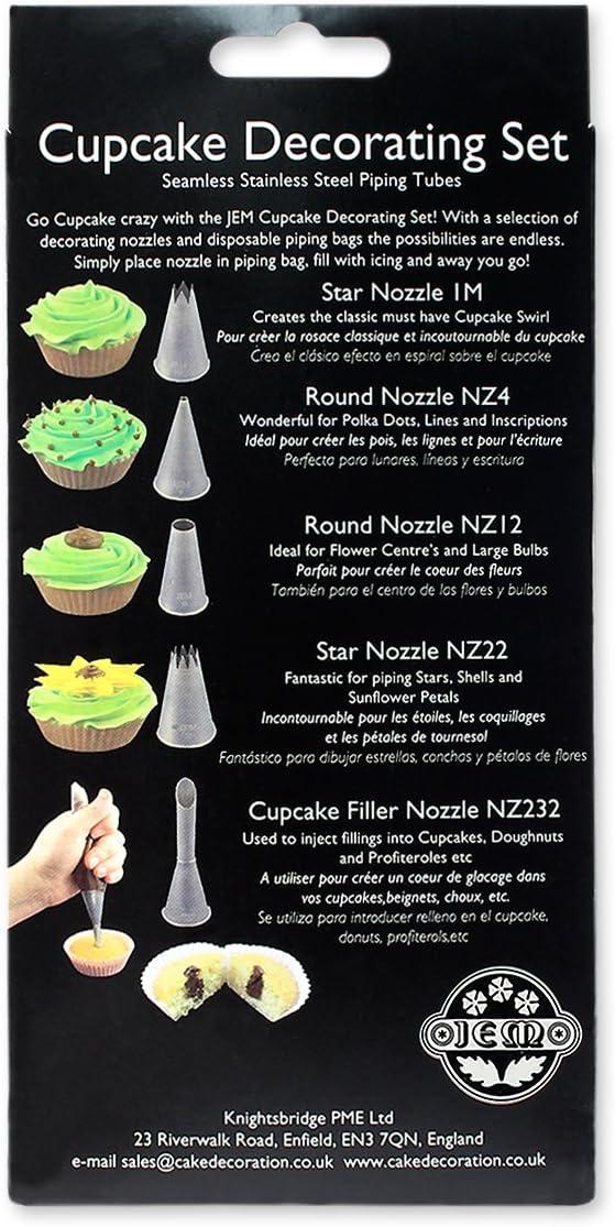 Argento PME Set per Decorare Cupcake Acciaio Inossidabile