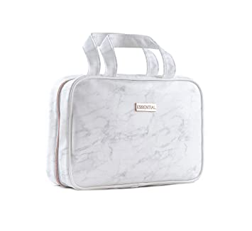 cd71592cfe3b Essential Hanging Toiletry Bag Marble Rose Gold Waterproof PVC for Women