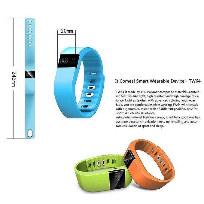 aottom tw64 Smart Watch Bluetooth 4.0 OLED Pulsera ...
