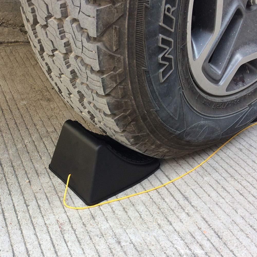 GZQ 2PCS Auto Cunei Resistente Antiscivolo Veicolo Ruota Pneumatico Moto Anteriore Blocco Tappi per Caravan Camion rimorchi
