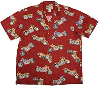 product image for Paradise Found Mens Maui Motorcycle Shirt Red 3X