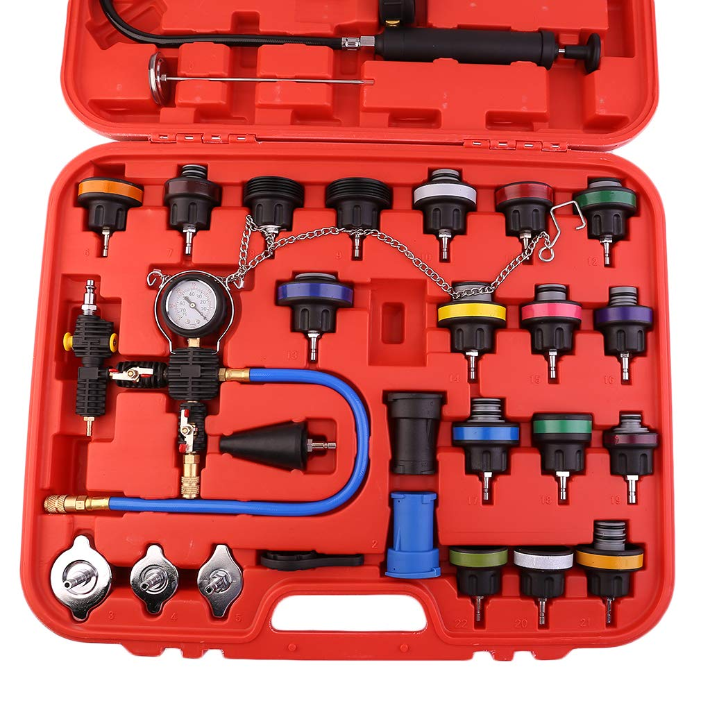 CATUO Universal Radiator Pressure Tester and Vacuum Type Cooling System Kit - 28-Piece Purge and Coolant Refill Kit W/Case - 58 x 48 x 11cm by CATUO (Image #4)