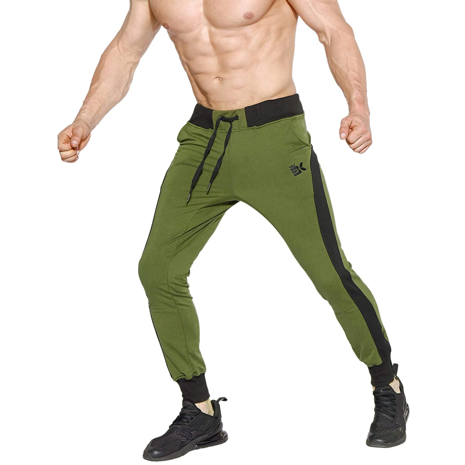 Zenwow Men's Sidemesh GymJoggers Trousers Tracksuit Jogging Bottoms Running Sweatpants with Pockets