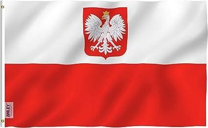 Anley Fly Breeze 90 x 150 cm Bandera del Estado de Polonia - Colores Vivos y Resistentes a Rayos UVA - Bordes Reforzados con Lona y Doble Costura: Amazon.es: Jardín