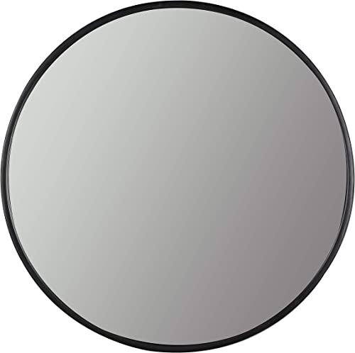 Hudson Co. Astoria Round Wall Mirror 30 diameter Black