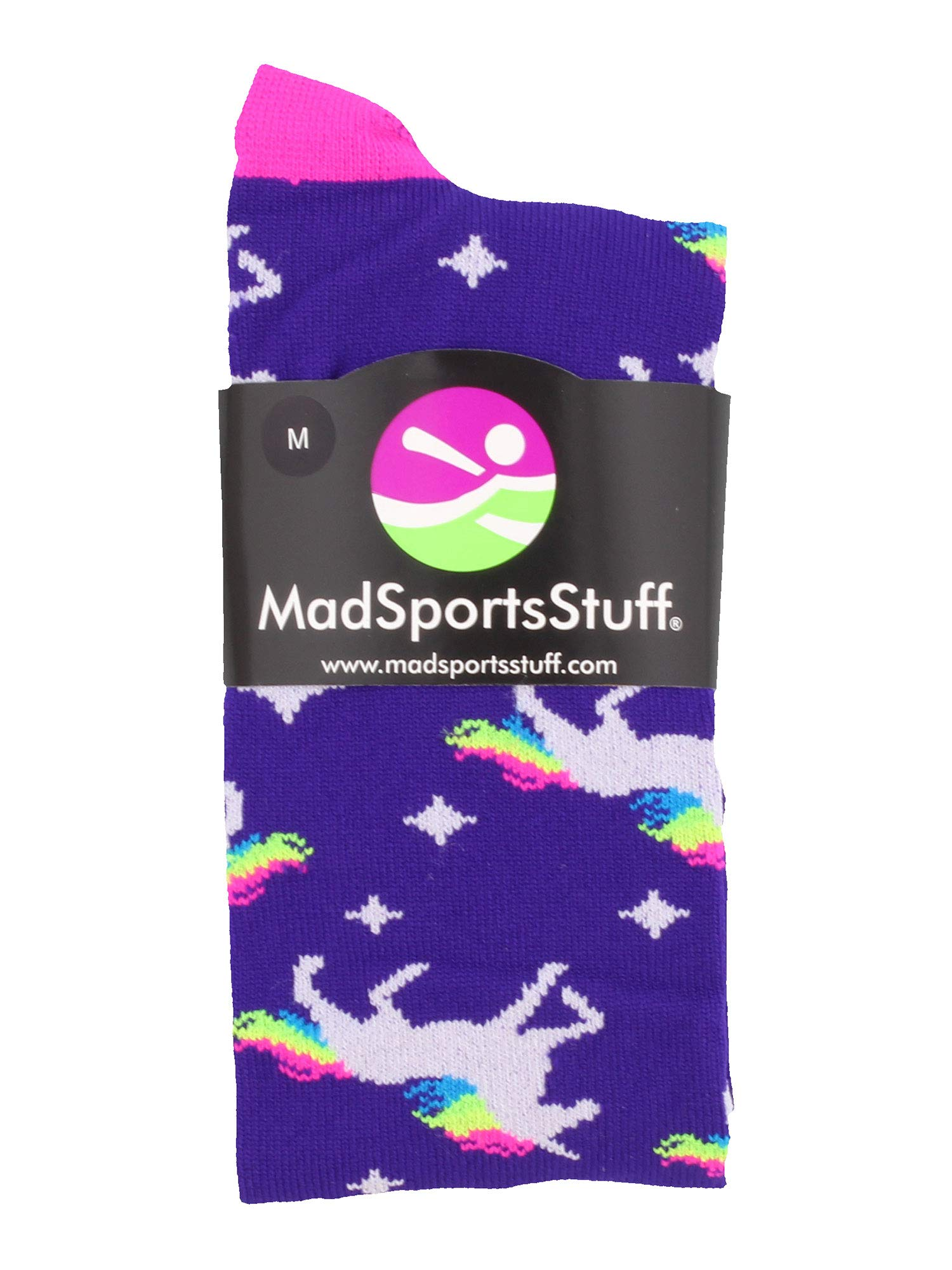 MadSportsStuff Neon Rainbow Unicorn Athletic Over The Calf Socks 4
