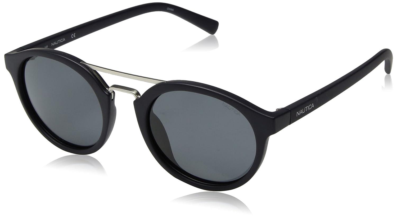 c099ec8954622 Amazon.com  Nautica Men s N3626sp Polarized Round Sunglasses