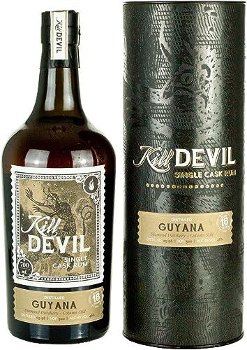 Kill Devil 18 Años de Edad Guyana Solo Barril Ron en Caja de Regalo - 700 ml