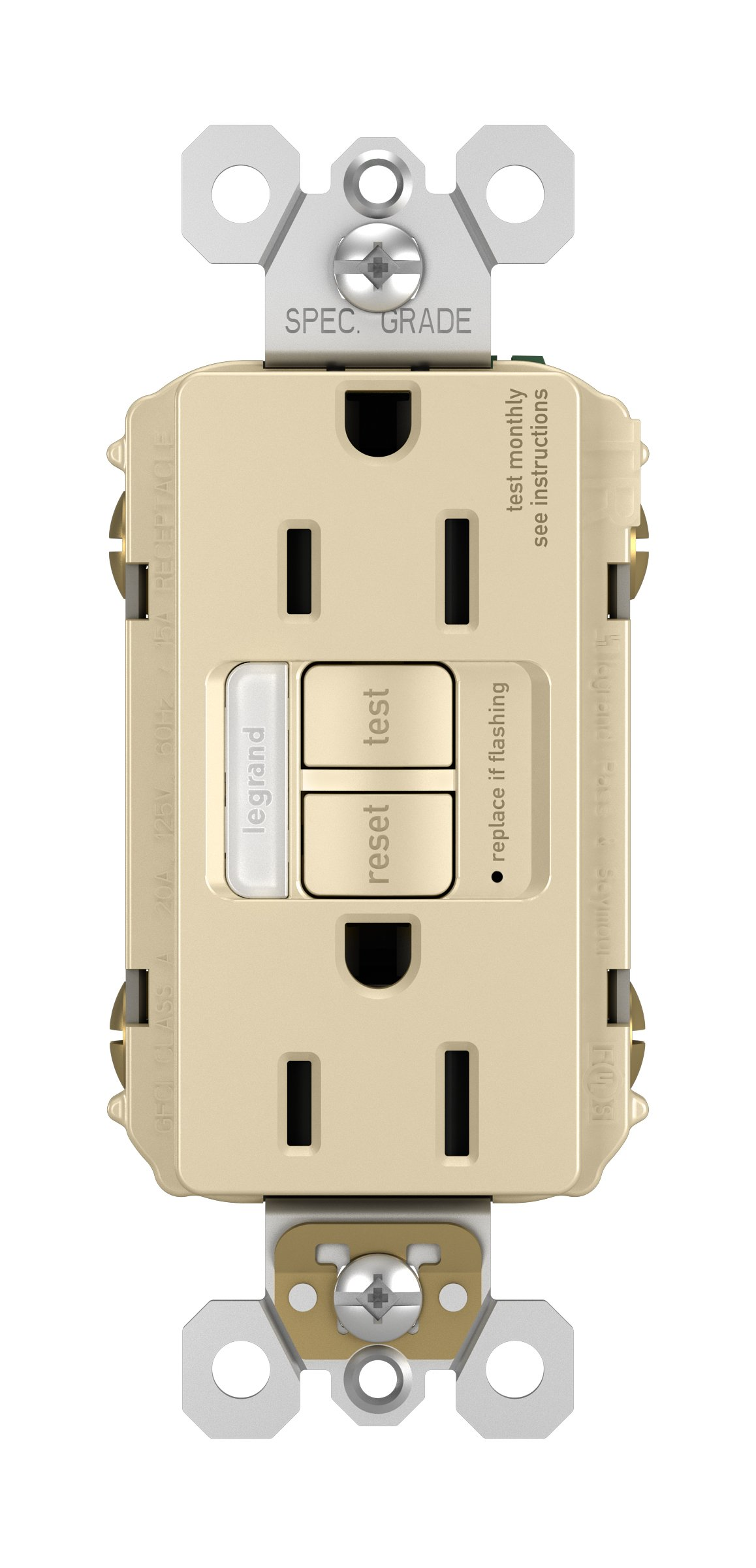 Legrand-Pass & Seymour 1597NTLTRICCD4 Receptacle Outlet, Ivory