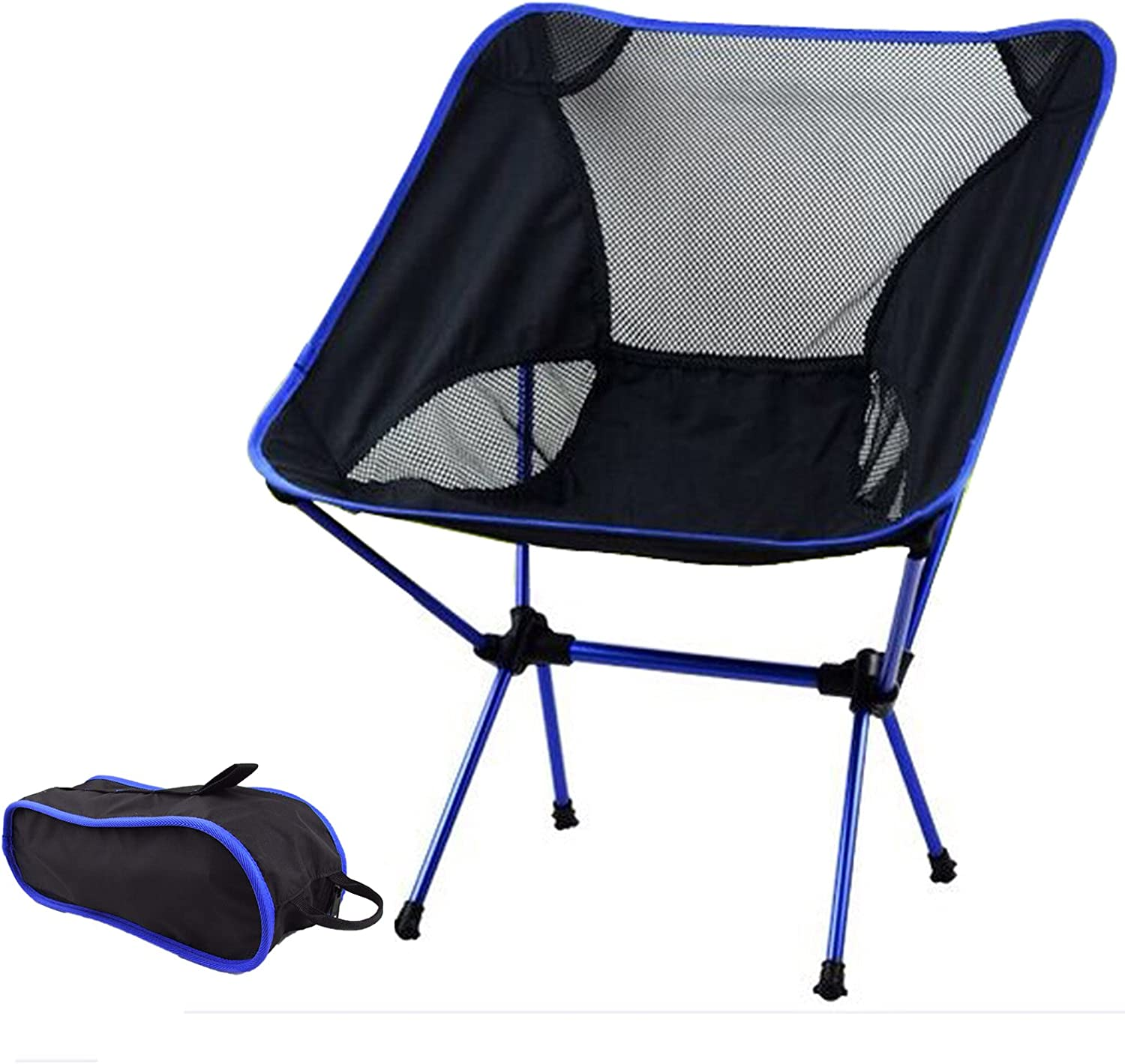 Portable Lightweight Folding Camping Chair Stool Backpacking Hiking Picnic Blue