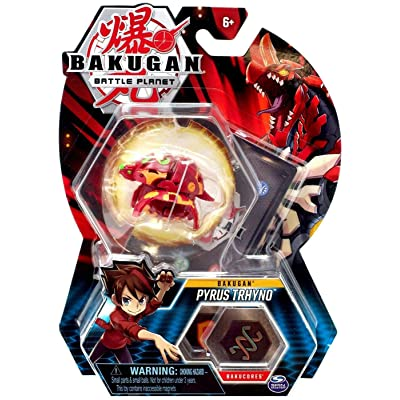 "Bakugan, Pyrus Tryhno, 2"" Tall Collectible Transforming Creature, for Ages 6 & Up: Toys & Games"