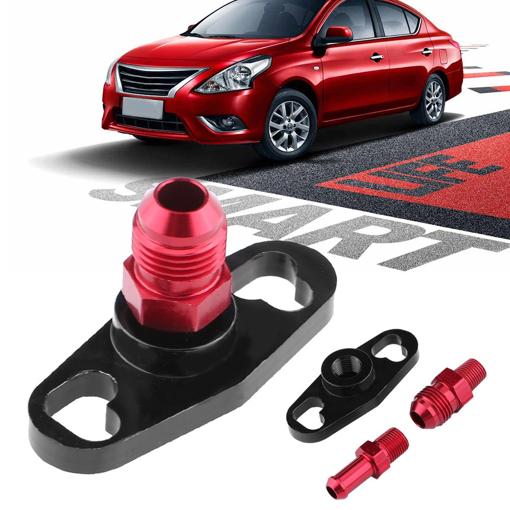 Baoblaze Aluminum Fuel Rail Delivery Adaptor Black for Toyota Nissan