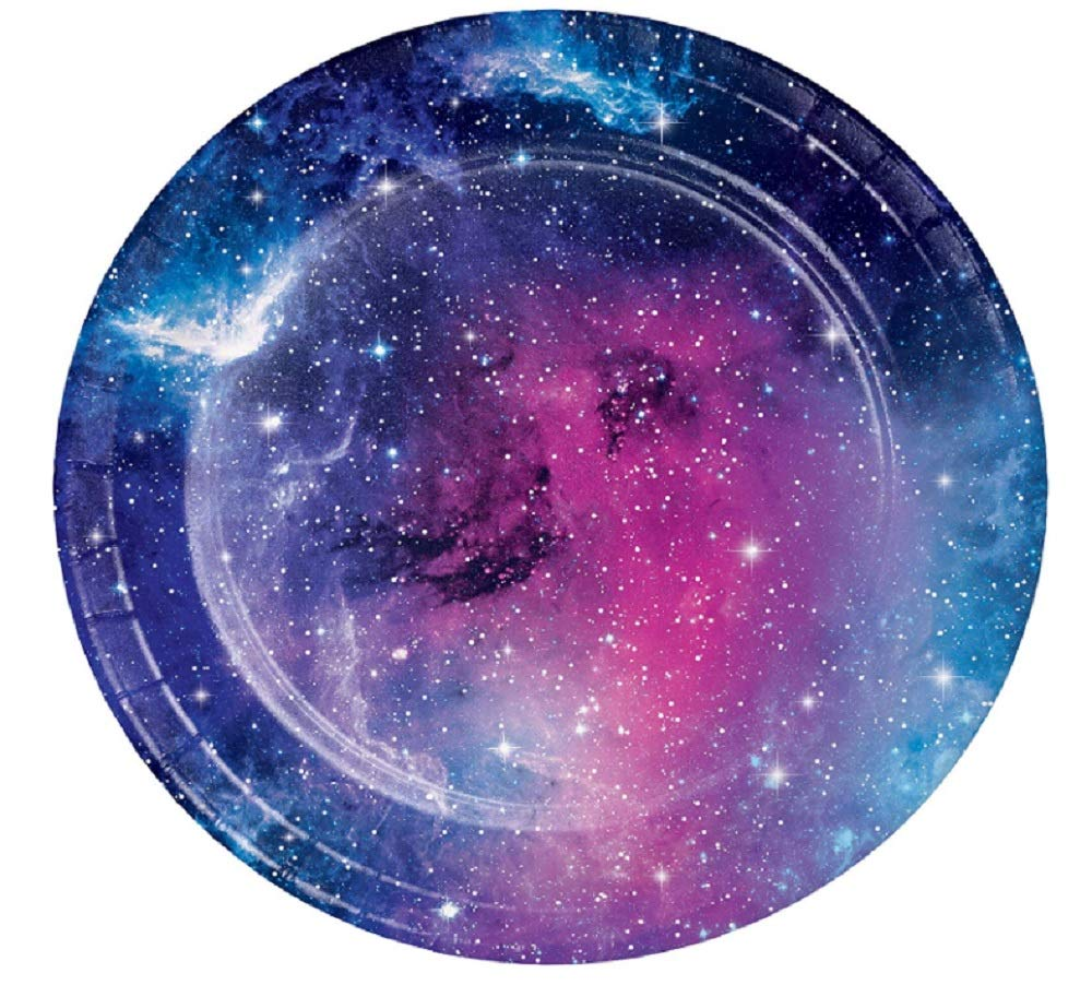 Galaxy Party Dessert Plates, 48 Count by Creative Converting Party Creations