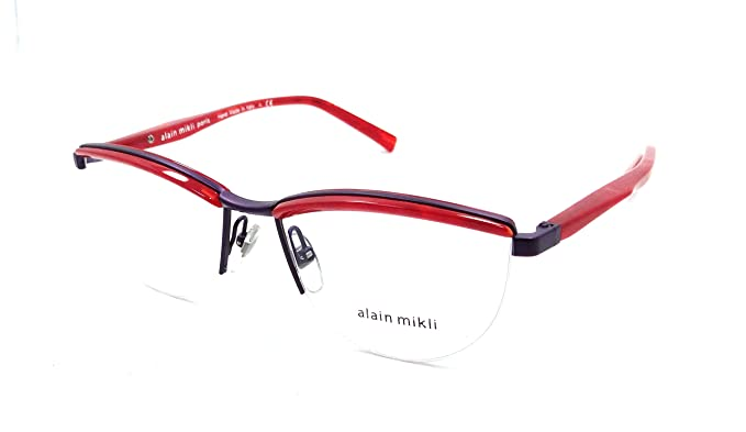6467cd3d5f5 Image Unavailable. Image not available for. Color  Alain Mikli Rx  Eyeglasses Frames A02023 E638 53-16-140 Marble Red Matte
