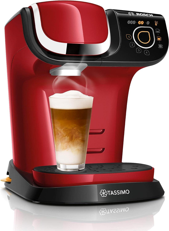 Bosch TAS6503 Tassimo My Way 2 - Cafetera de cápsula con sistema de filtración Britta e interfaz táctil, 1500 W, 1,3 litros, color rojo: Amazon.es: Hogar