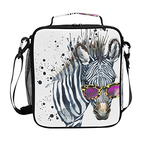 b7ca931cce13 Amazon.com: TropicalLife Lunch Bag Insulated Funny Animal Zebra ...