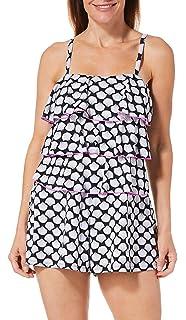 924ea7c1878 A Shore Fit Womens Shell Triple Tier Swim Romper at Amazon Women s Clothing  store