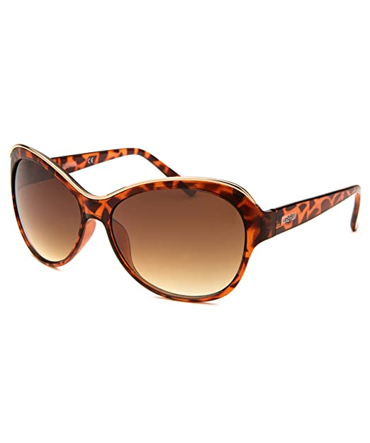 8b4729f08c Image Unavailable. Image not available for. Color  Kenneth Cole Reaction Cat  eye Tortoise Plastic Sunglass KC1234 53F