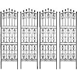 トレリス フェンス 220 ガーデニング バラ 庭 目隠し 柵 ハイタイプ ダークブラウン 4枚組