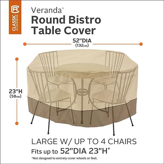 Amazon.com: classic accessories Veranda Patio mesa y silla ...