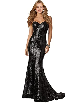 Lily Wedding Womens Sexy Sequined Mermaid Prom Dresses 2018 Long Formal Evening Party Gowns P186 Size