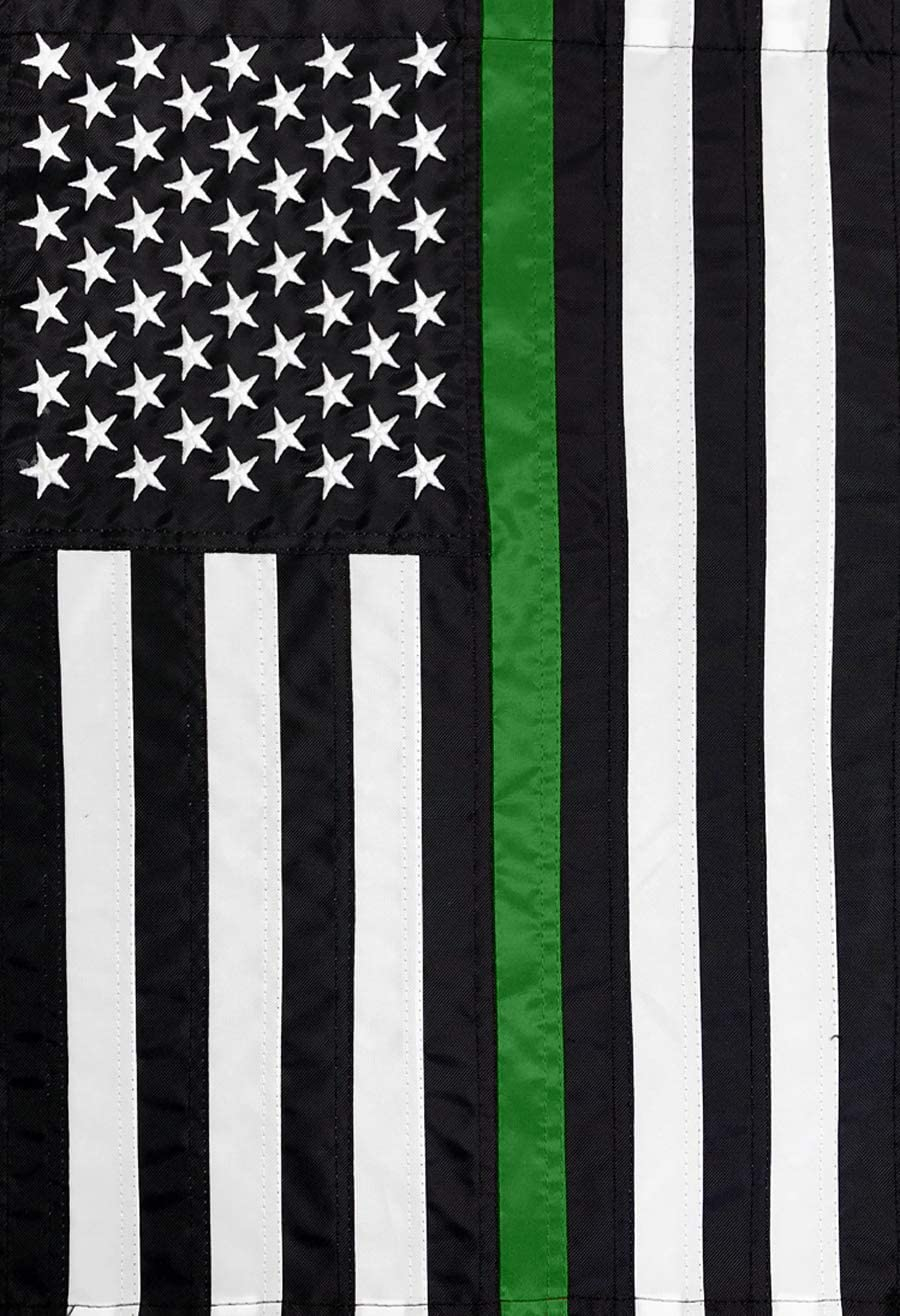 Briarwood Lane Thin Green Line Applique & Embroidered House Flag Military Support 28