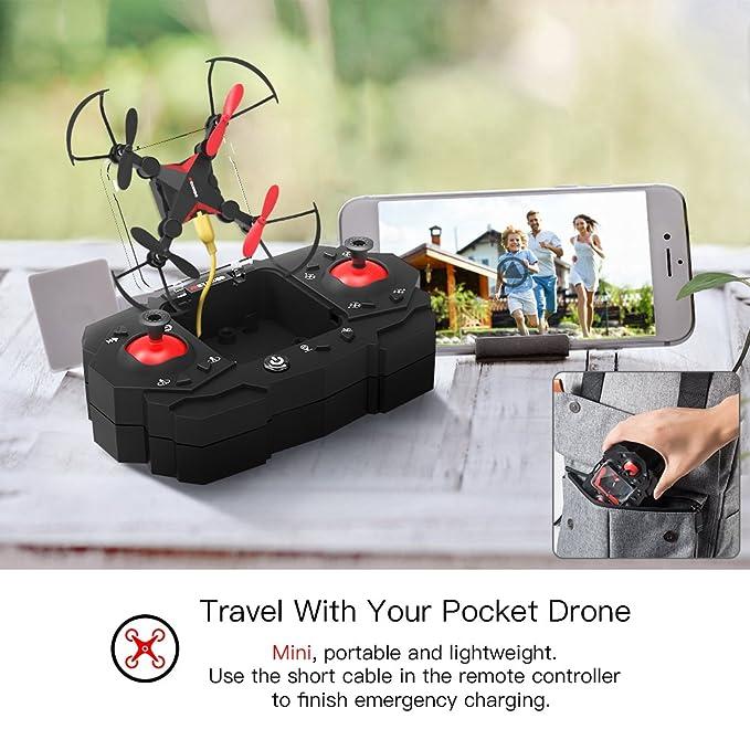 Metakoo Drone con Cámara, M2 Plegable Drone Quadcopter con Cámara ...