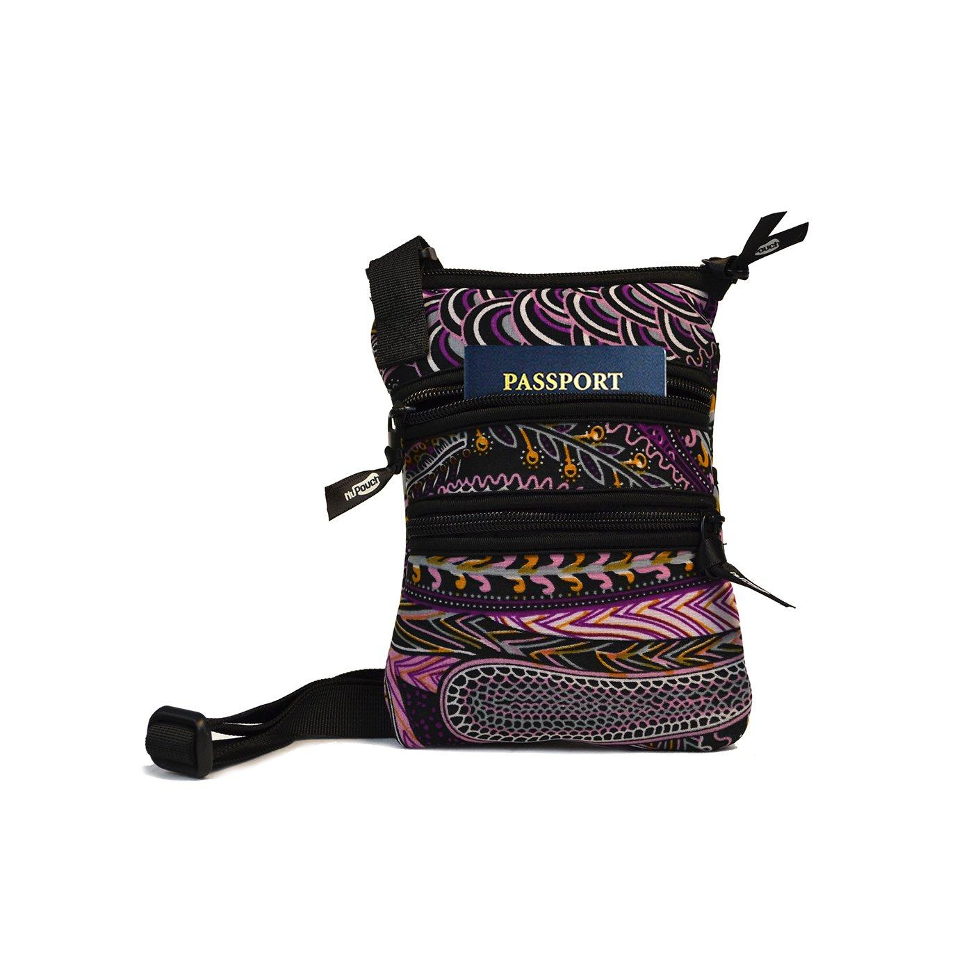NuPouch Cross Body Purse Women's Handbag Messenger Bag Paisley