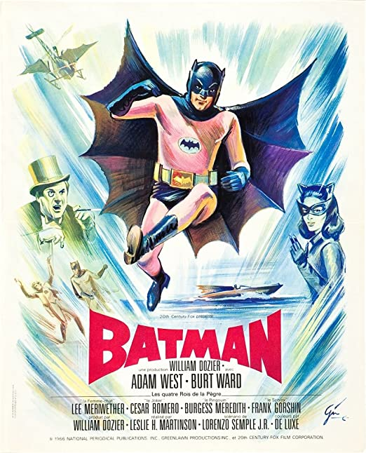 Wall Poster Batman /& Robin Burt Ward /& Adam West Reproduction 24x36 or 11x17 In.
