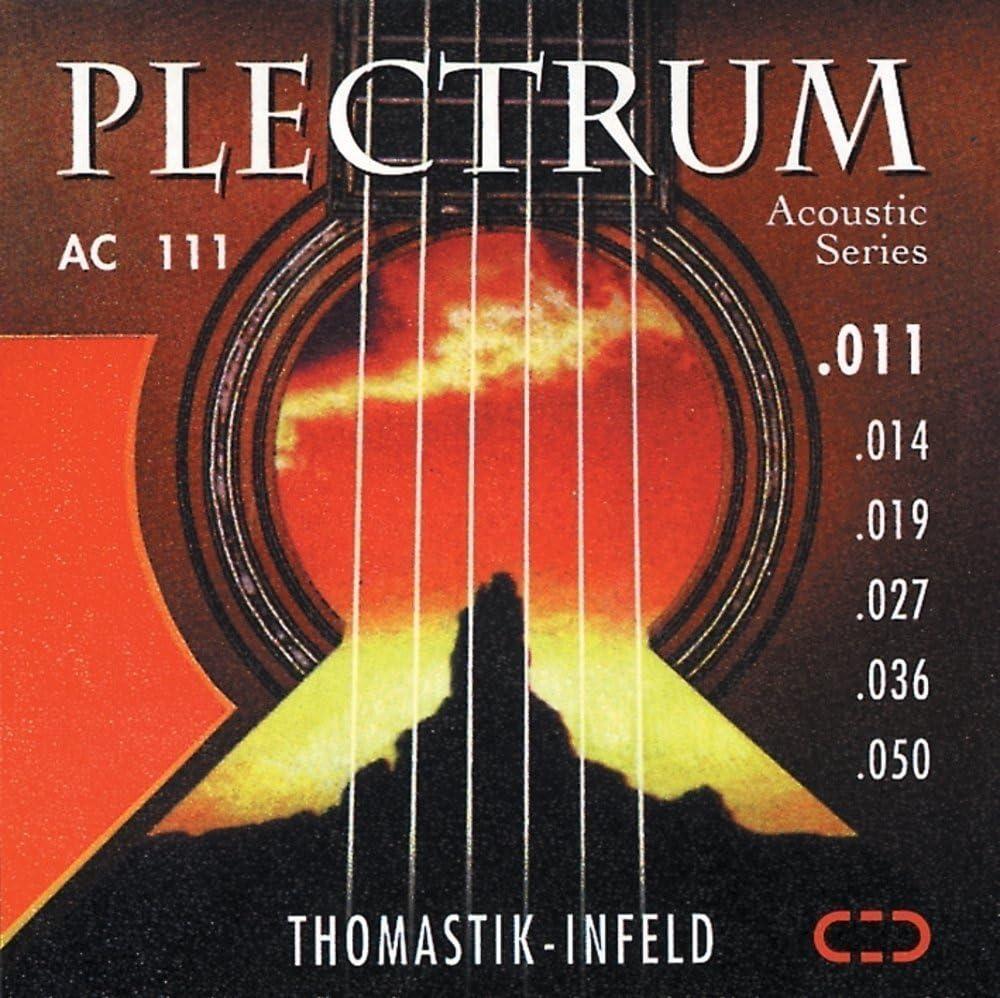 Thomastik cuerda Sol .016 bronce, entorchado sedoso, entorchado plano AC016 para Guitarra Acústica Plectrum Acoustic Series juego AC110, AC210