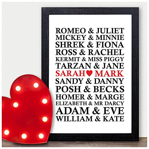 Famous Couples Personalised Birthday Gifts For Him Husband Boyfriend Partner From Wife Girlfriend Presents